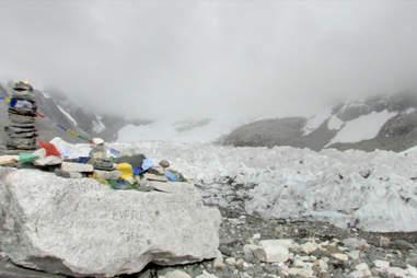 Mount Everest base in Nepal