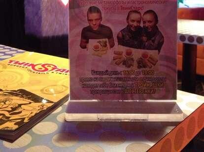 Twin Stars Diner menu