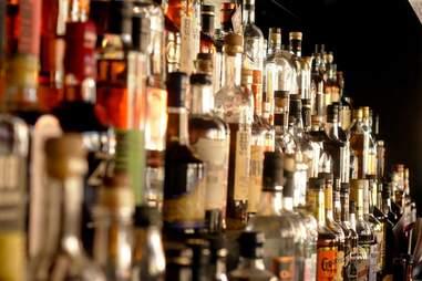 whiskey bottles at Gamlin Whiskey House