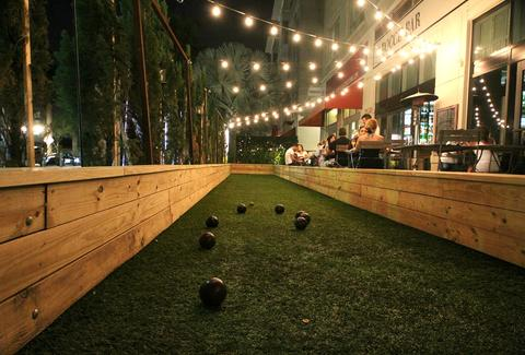 Bocce Ball Court at Bocce Bar Miami