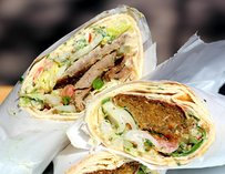 Falafel and Gyro at Camel's Hump Miami