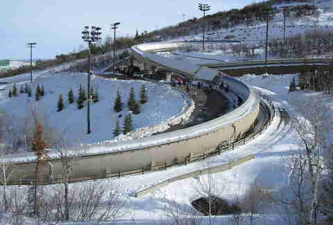 Olympic luge track