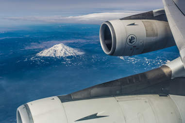 jet engine and volcano