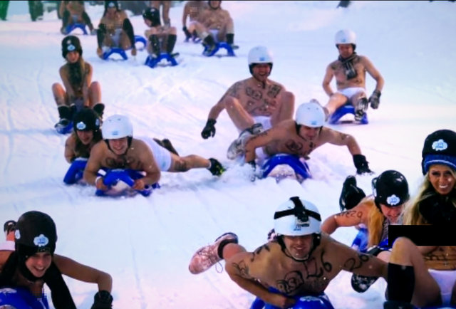 The best topless European sledding competition you\'ll see all week