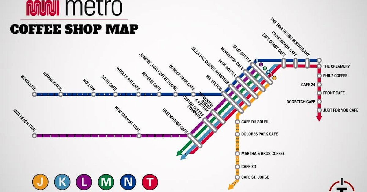 The greatest SF coffee shop map ever made - Thrillist San