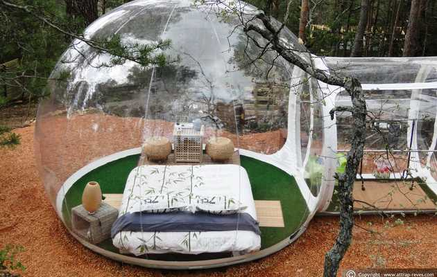 Spend the night in France's bubble hotel