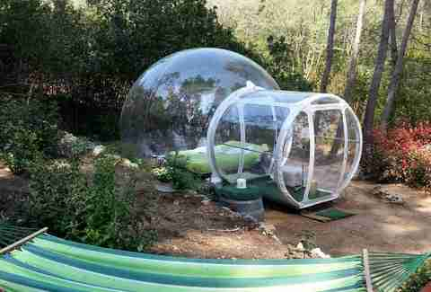 Bubble room and hammock