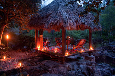 Private hut