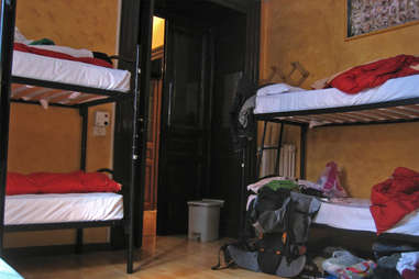 Youth hostel bunk beds