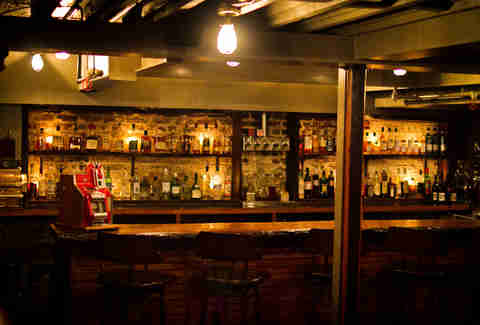 whiskey cellar at Jack Rose Dining Saloon
