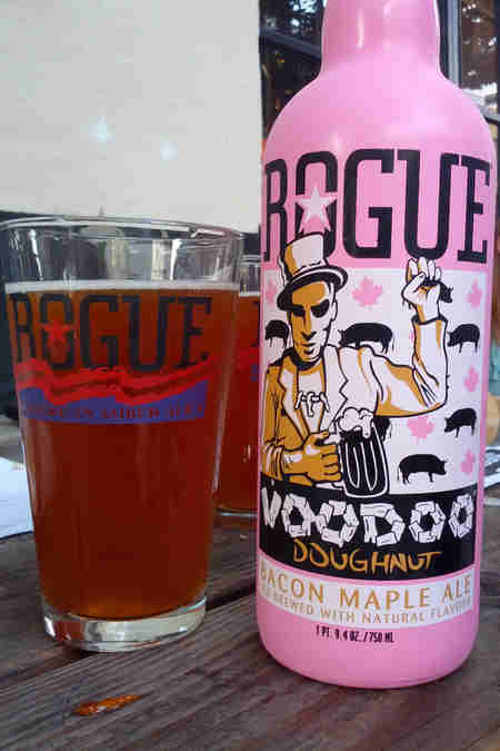 rogue voodoo doughnuts maple bacon