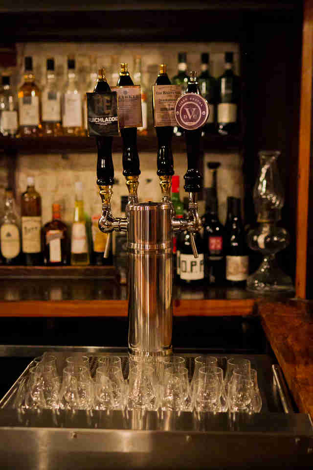 whiskey taps at Jack Rose