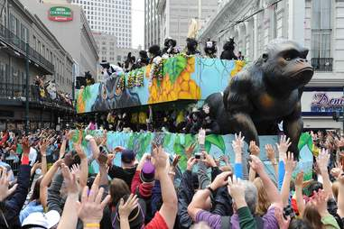 """Dogs, toilet brushes, high heels, and coconuts: a brief guide to notable Mardi Gras """"krewes"""""""