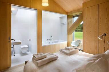 Bedroom with in-room bathroom