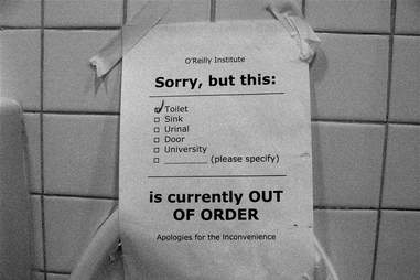 toilet out of order