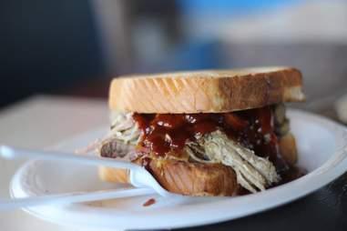 pork sandwich at daddy d'z