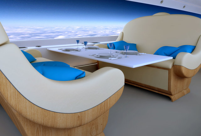 The jet of the future only has window seats, looks friggin\' awesome