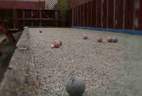 bocce ball at Leisure Public House