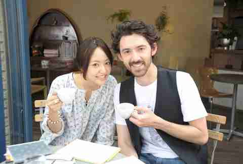 japanese girl, foreigner, coffee