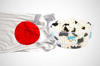 Japanese flag with sushi