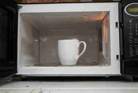 microwaving coffee