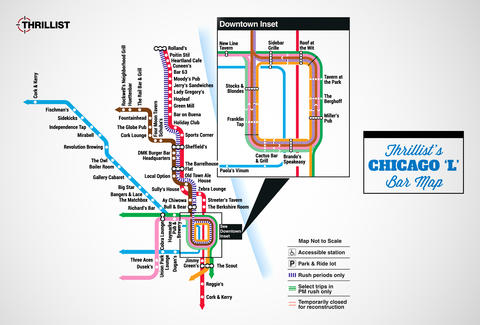 Chicago Bar Map Is The Best (Not Made By CTA) - Thrillist on the l chicago map, chicago subway station map, chicago l train system, chicago el map, austin metro transit map, chicago red line train routes, chicago metra blue line map, san francisco transportation map, uptown map, chicago blue line train map, chicago cta map with streets, chicago orange line map, chicago illinois state map, chicago train routes map, chicago supermarkets map, chicago rail map, orlando park il map, philadelphia location on a map,