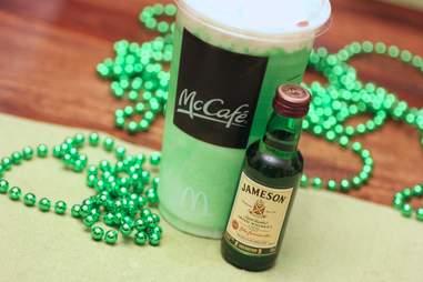 Jameson and a Shamrock Shake
