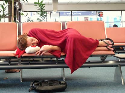 Sleeping airport