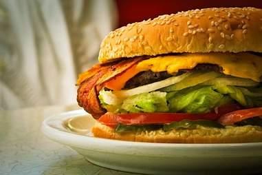 burger at Skyline