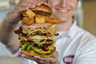 wow burger with toppings