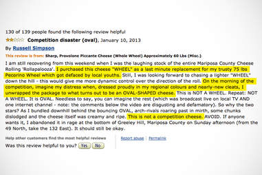Amazon review of sharp provolone piccante cheese wheel