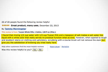 Amazon review of Tuscan whole milk