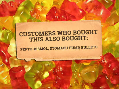 Sugarless gummy bear review quote