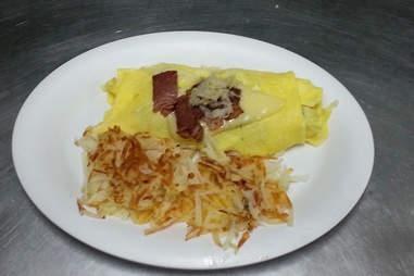 Reuben omelette