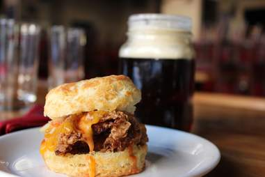 Fried chicken biscuit at Percy Street