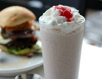 Chocolate chip shake at The Custom Burger Aventura