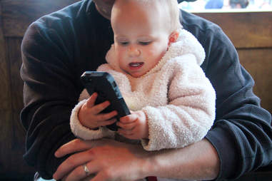 Baby on the iPhone