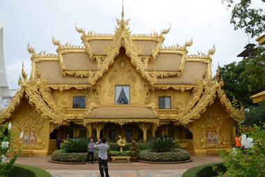 golden bathroom temple