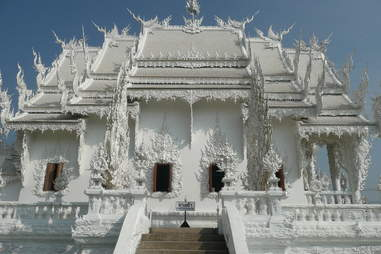 white temple side view