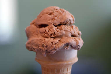 chocolate ice cream cone