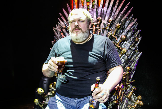 Hodor shares a Game of Thrones beer, barely says \