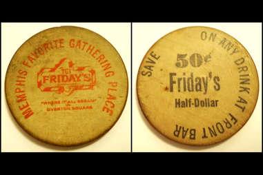 Memphis Fridays Drink Tokens