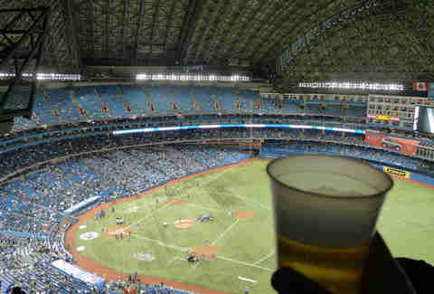 Rogers Centre with a beer