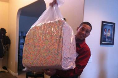 Giant bag of Lucky Charms marshmallows