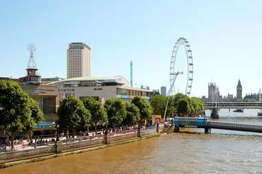 View of London's South Bank on the Thames