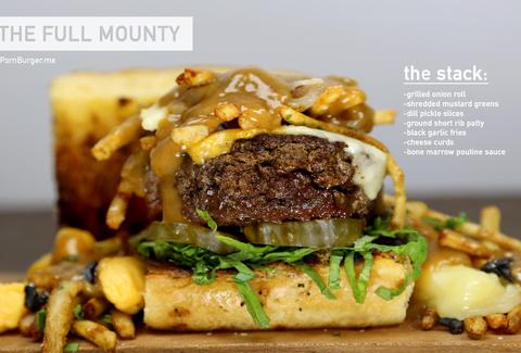 The Full Mounty poutine burger