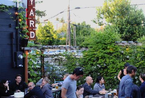 The Yard outdoor patio beer bar