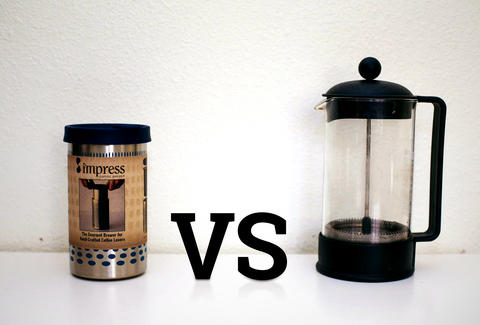 French press and Impress coffee maker
