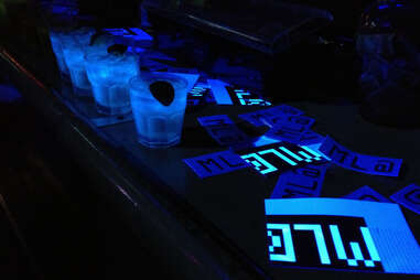 Blacklight cocktails