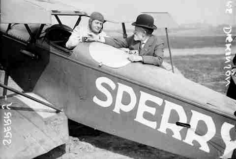 lawrence sperry and plane